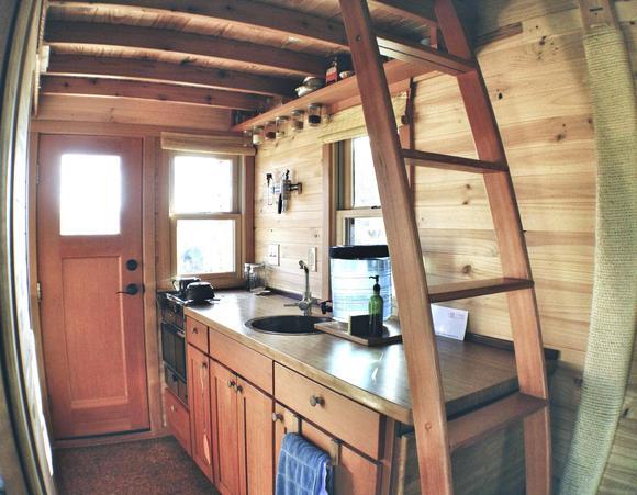 Фото жилого мини-дома своими руками: кухня
