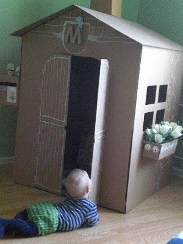 Картонный домик для ребенка своими руками фото 107