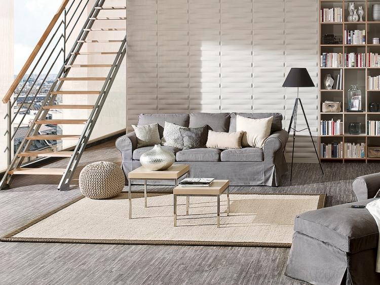 Креативное оформление гостиной: стеновые 3D-панели. Красивые ...