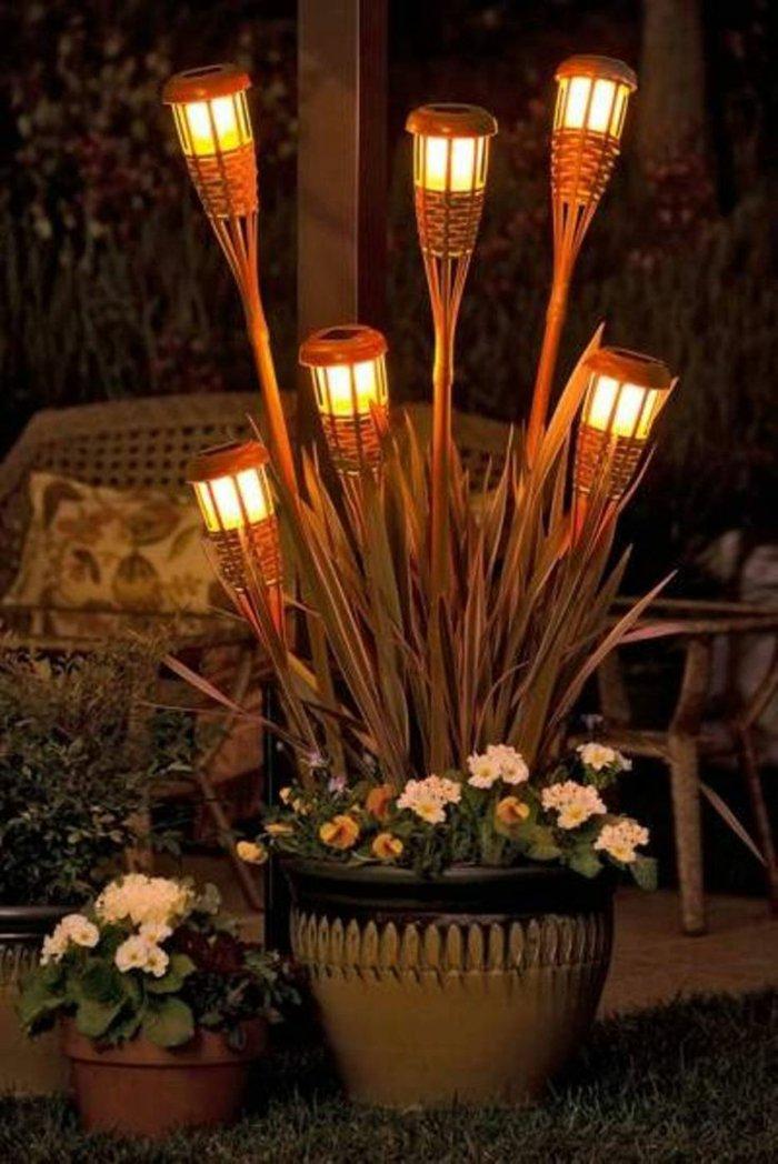 Оригинальные ландшафтные светильники фото