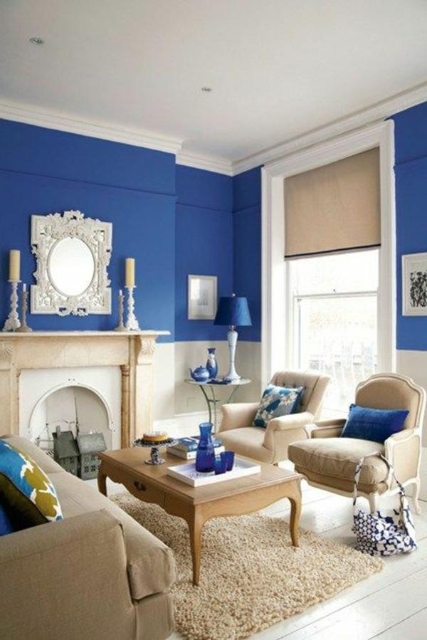 blaue-farbtöne-blaue-wohnzimmer-wandgestaltung-2