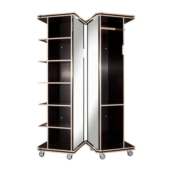 Шкаф-пенал для одежды узкий
