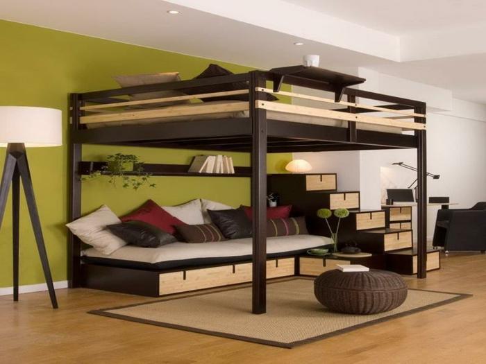 Двухъярусная кровать для взрослых с ящиками