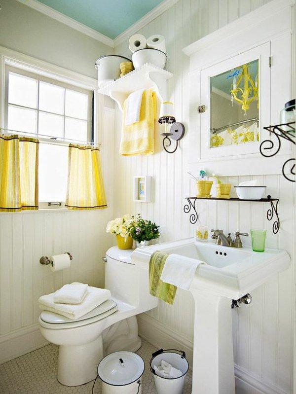 Интерьер желтой ванной комнаты. Красивые интерьеры и дизайн