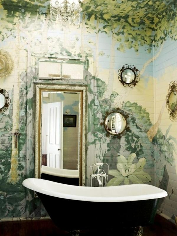 wandmalerei-ideen-badezimmer-vintage