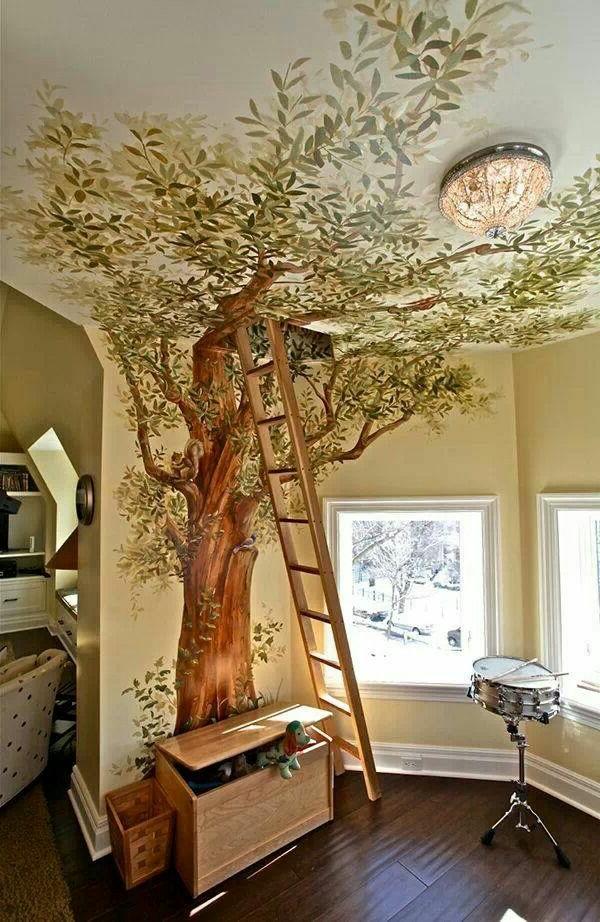 wandmalerei-ideen-baum-kindezimmer