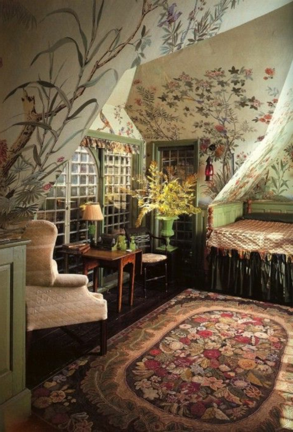 wandmalerei-ideen-vintage-gemälde