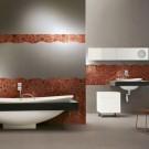 Дизайн ванной комнаты стеклянной мозаикой