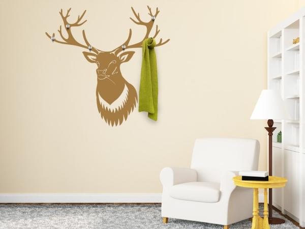 Наклейка на стену олень