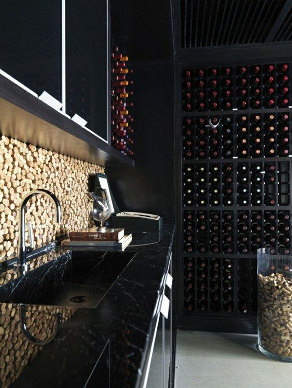 Стена из пробок от вина