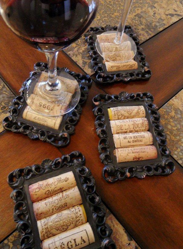 Великолепные подстаканники из винных пробок