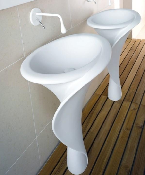 Раковина-тюльпан для ванной комнаты в форме каллы