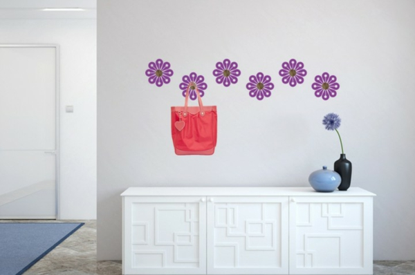 Наклейка на стену цветы
