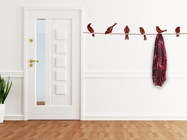Наклейка на стену птицы на проводе
