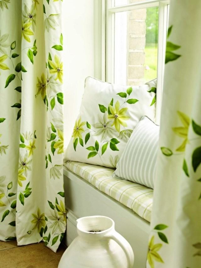 Бело-зеленые шторы
