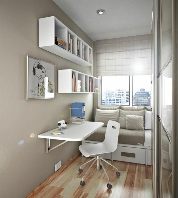 Белый раскладной письменный стол
