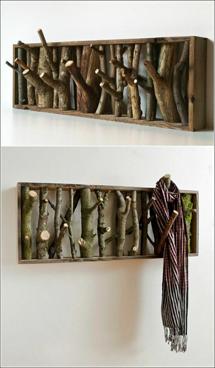 Настенные вешалка для одежды своими руками