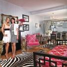 Серебристые стены, розовый цвет и животные принты