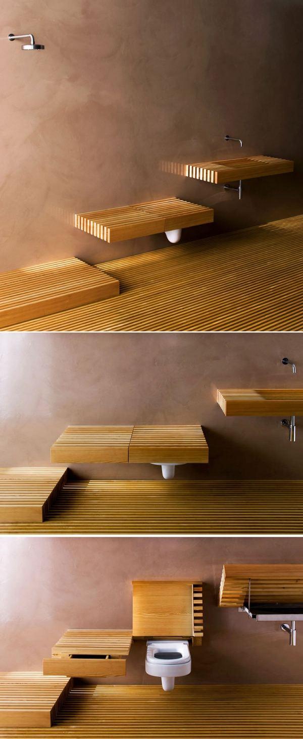Скрытая раковина для ванной