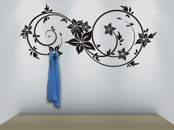 Наклейка на стену цветочный узор