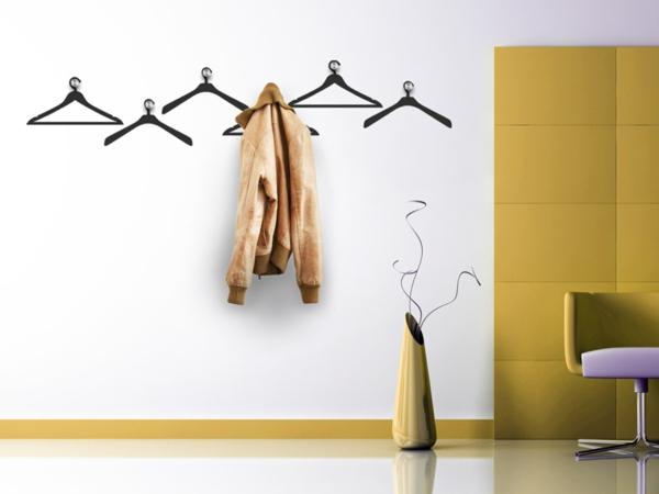 Наклейка на стену вешалки