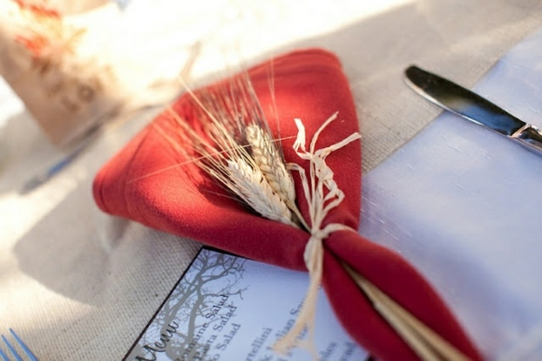 Колосья пшеницы для украшения салфеток