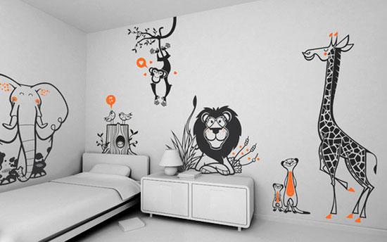 Рисунки на стену в квартире своими руками фото