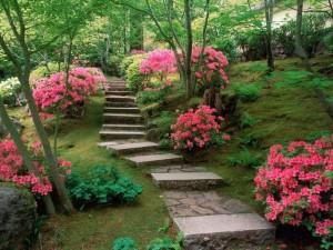 Садовая дорожка из искусственного камня