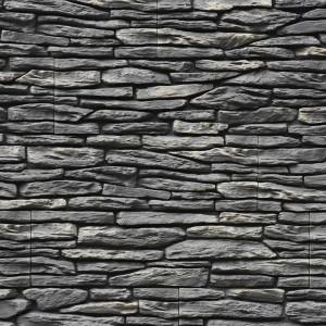 Серые пластины декоративного камня
