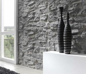 Серый декоративный камень