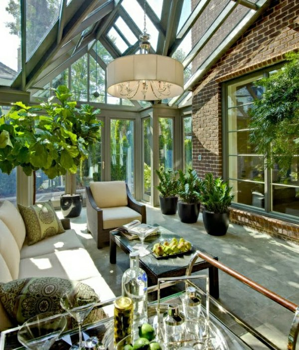 Фото: зимний сад в доме, пристройка