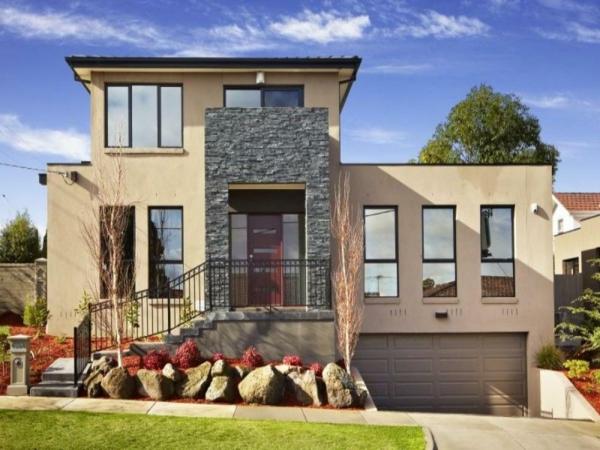 Фасадная облицовочная плитка и бетон