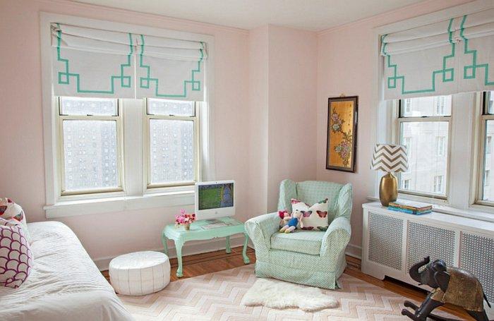 Плотные римские шторы в детскую комнату