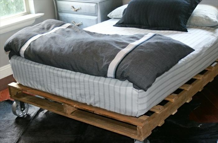 Фото кровать из поддонов своими руками