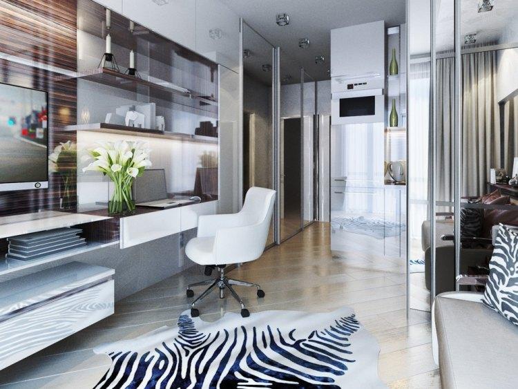 16 проект однокомнатной квартиры 20 кв м рабочее место ковер зебра