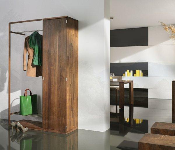 Деревянный шкаф для прихожей фото