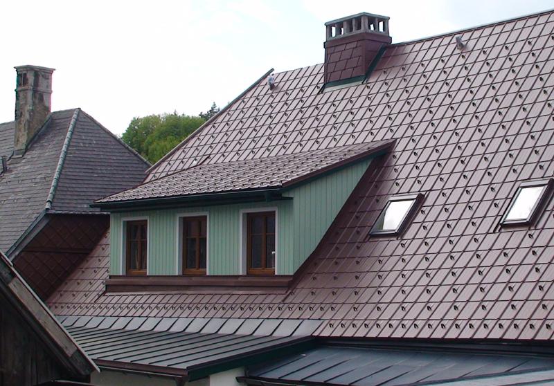 Крыша из алюминия фото