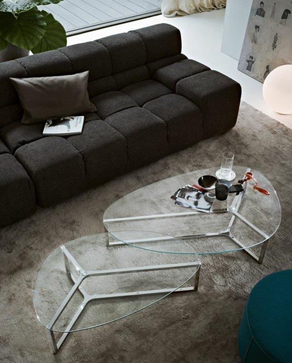Воздушные журнальные столики со стеклом