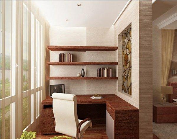 фото Балкон, объединенный с комнатой