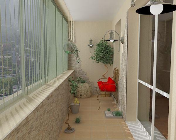 фото Балкон с оформлением под уютное крылечко