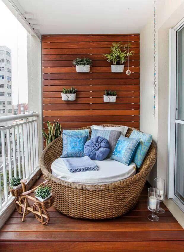 фото Идея для летнего открытого балкона