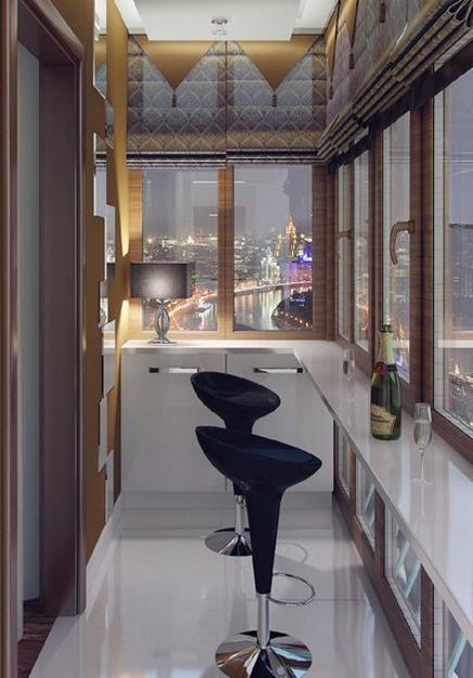 фото Идея оформления балкона под бар