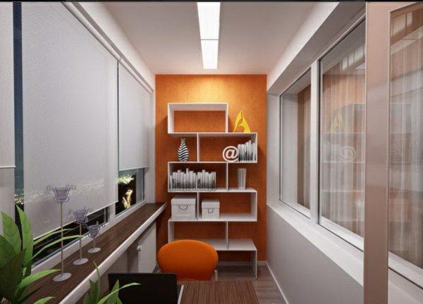 фото Сочные цвета балкона-кабинета