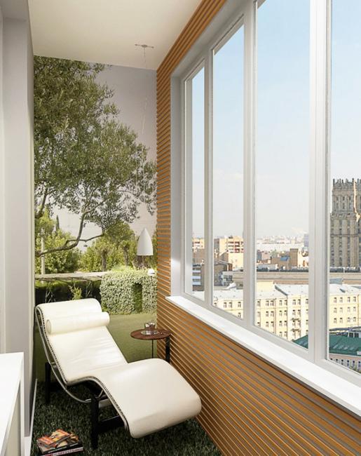 фото Уютный интерьер маленького балкона