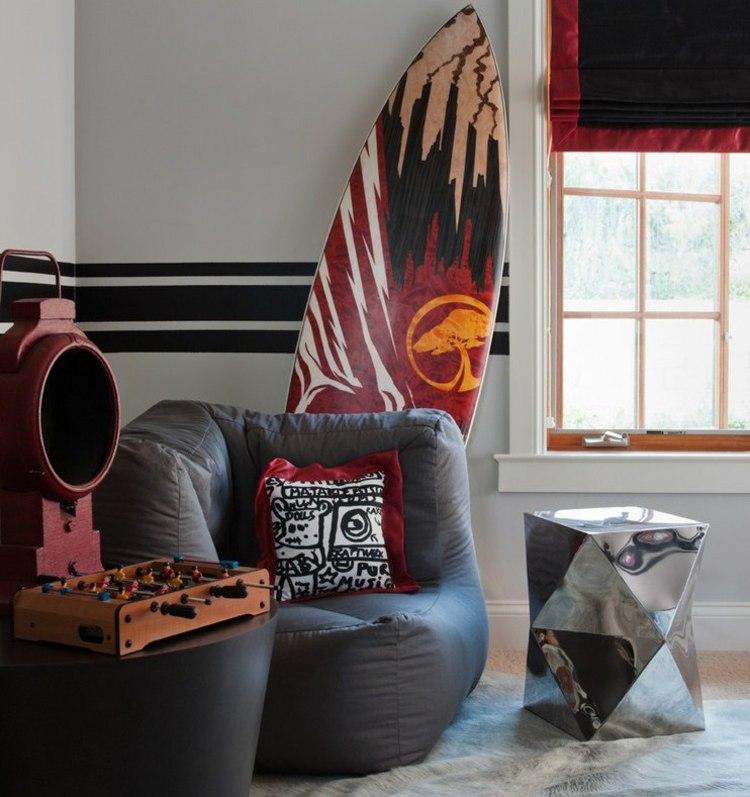 Стильное бескаркасное кресло для тинейджера