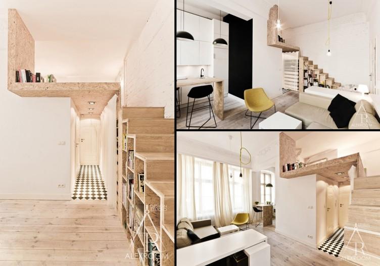 дизайн однокомнатной квартиры студии 29 кв м фото
