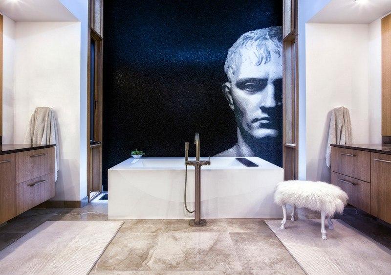 дизайн стен фотообоями изображение древнегреческой статуи фото