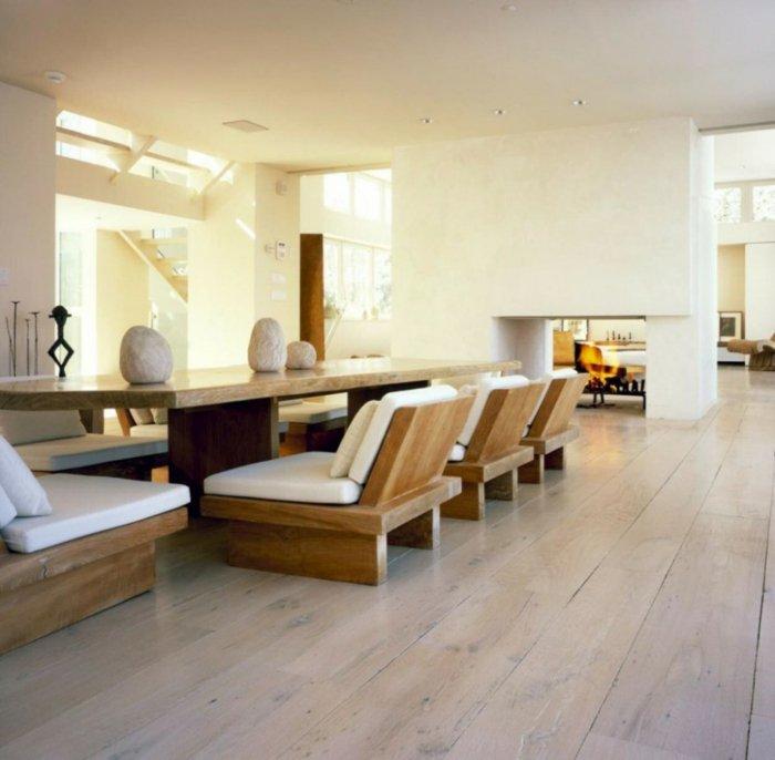 дизайнерская мебель из дерева столовая фото