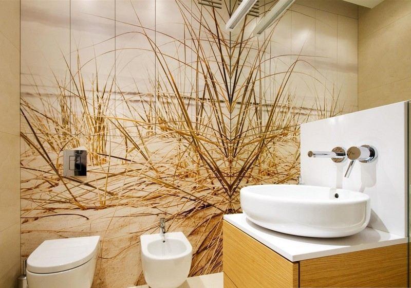 фотообои для ванной комнаты берег песок фото