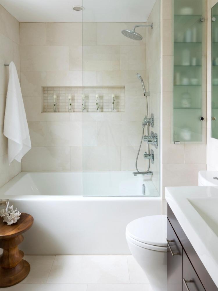 функциональный дизайн маленькой комнаты светлая плитка для ванной